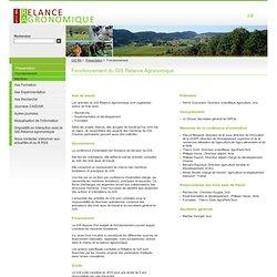 GIS RELANCE AGRONOMIQUE - Fonctionnement