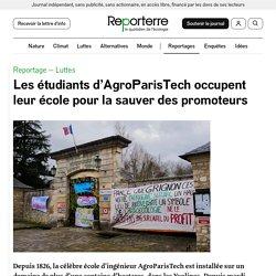 19 mars 2021 Les étudiants d'AgroParisTech occupent leur école pour la sauver des promoteurs