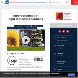 FUN - Agroressources et agro-industries durables