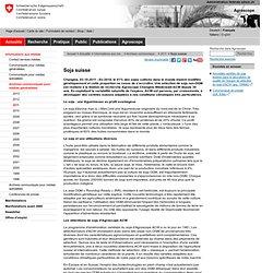 AGROSCOPE CHANGINS 03/10/11 Soja suisse