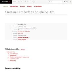 Agustina Fernández: Escuela de Ulm