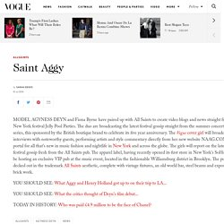 Agyness Deyn All Saints collaboration