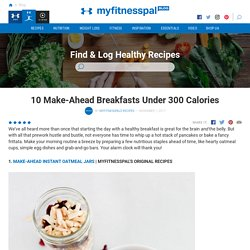 10 Make-Ahead Breakfasts Under 300 Calories