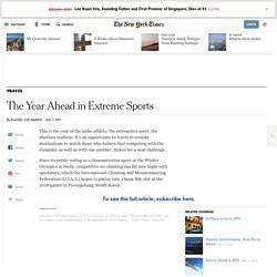 The Year Ahead in Extreme Sports