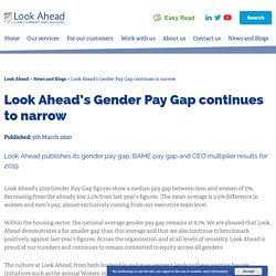Look Ahead's Gender Pay Gap continues to narrow - Look Ahead