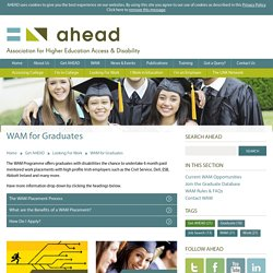 For graduates: WAM from AHEAD