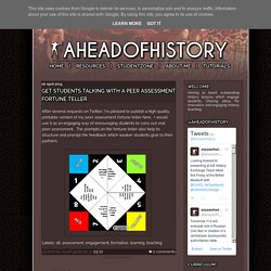 aheadofhistory: Get students talking with a peer assessment fortune teller