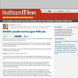 AHIMA unveils tool to spur PHR use