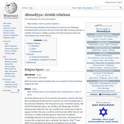 Ahmadiyya–Jewish relations