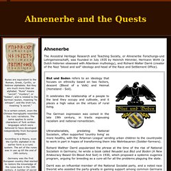 Ahnenerbe and the Quests