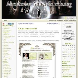 Blog über Ahnenforschung und Genealogie » Blog Archiv » Ach die sind verwandt?