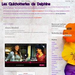 Les quichotteries de Delphine: Ahora Madrid