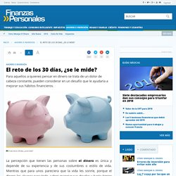 Cómo ahorrar, reto de los 30 días- FinanzasPersonales.com.co