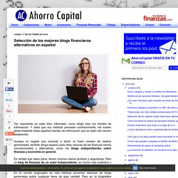 AhorroCapital: Selección de los mejores blogs financieros alternativos en español