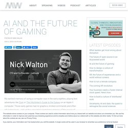 Between Worlds: AI and the future of gaming