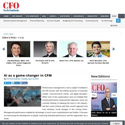 AI as a game-changer in CPM