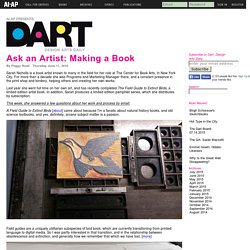 DART » Ask an Artist: Making a Book