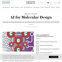 AI for Molecular Design
