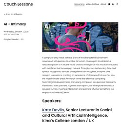 AI + Intimacy — Couch Lessons