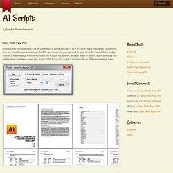 Ai Open Multi-Page PDF