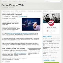 AIDA, les 4 piliers de la rédaction web