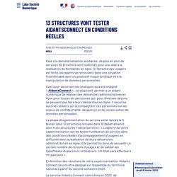 13 structures vont tester AidantsConnect en conditions réelles - Laboratoire d'Analyse et de Décryptage du Numérique