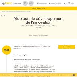 Aide pour le développement de l'innovation