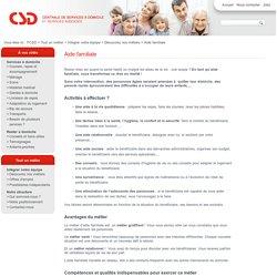 Aide familiale - FCSD