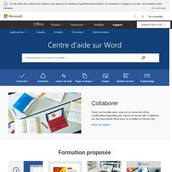Aide et formation sur Word - Support Office