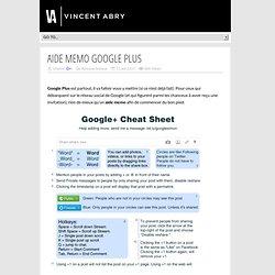 Aide Memo Google Plus