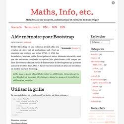 Aide mémoire pour Bootstrap
