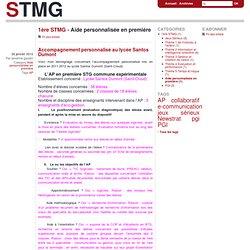 Aide personnalisée en première - stmg