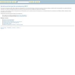 Aide: Qu'est-ce qu'une base de connaissances (BC)?