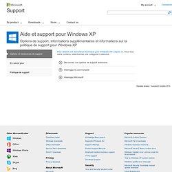 Aide et Support pour Windows XP