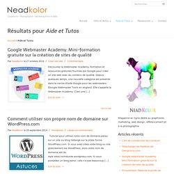 Aide et Tutos du magazine en ligne Nead Kolor