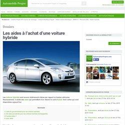 Les aides à l'achat d'une voiture hybride