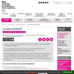 Aides de l'Agefiph pour l'accès ou le maintien dans l'emploi