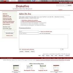 Aides De Jeu - Drakefire