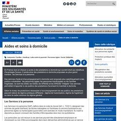 Aides et soins à domicile- Ministère des Solidarités et de la Santé