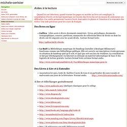 Aides à la lecture - michele-cerisier