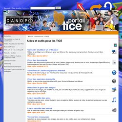 Aides et outils pour les TICE