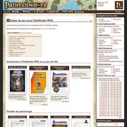 Aides de jeu pour Pathfinder-RPG - Wikis Pathfinder-fr