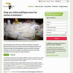 Stop aux aides publiques pour les usines à animaux
