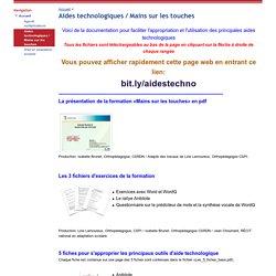 Aides technologiques / Mains sur les touches - RÉCIT CSRDN