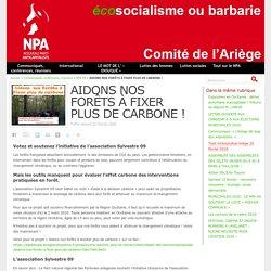 AIDONS NOS FORÊTS À FIXER PLUS DE CARBONE !