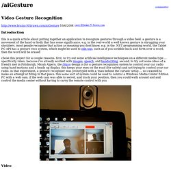 /aiGesture: Video Gesture Recognition