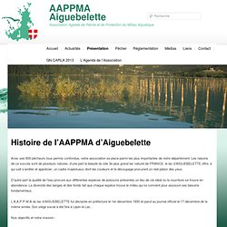 Histoire de l'AAPPMA d'AiguebeletteAAPPMA Aiguebelette