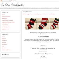 Du Fil et Des Aiguilles: Chaussette pour votre sapin de Noël - Tuto gratuit et en français