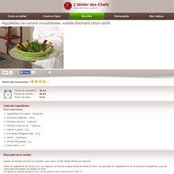 Aiguillettes de canard croustillantes, salade d'é