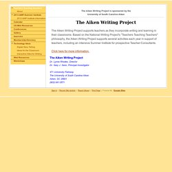 Aiken Writing project